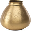 Nkuku Nami Antique Round Brass Pot