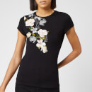 Ted Baker Women's Torina Opal Printed Fitted T-Shirt - Black