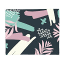 Dark Splashes And Dashes Fleece Blanket