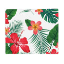 Tropical Flowers Fleece Blanket