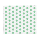 Green Spots Fleece Blanket