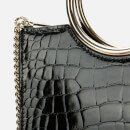 Kate Spade New York Women's Sam Mini Croc Embossed Bracelet Medium Satchel - Black