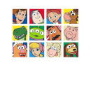 Disney Toy Story Face Collage Men's T-Shirt - White
