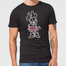 Disney Mini Mouse Line Art Men's T-Shirt - Black