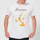 Disney Beauty And The Beast Lumiere Men's T-Shirt - White