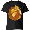 Disney Mufasa & Simba Kids' T-Shirt - Black