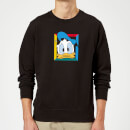 Disney Donald Face Sweatshirt - Black