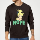 Disney Peter Pan Tinkerbell Nope Sweatshirt - Black