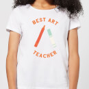 Best Art Teacher Women's T-Shirt - White
