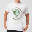 Best Geography Teacher Men's T-Shirt - White