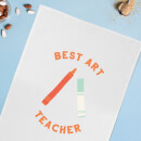 Best Art Teacher Cotton Tea Towel