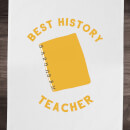 Best History Teacher Cotton Tea Towel