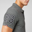 Superdry Men's Classic Pique Short Sleeve Polo Shirt - Nordic Charcoal Grit