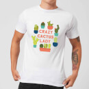Crazy Cactus Lady Men's T-Shirt - White
