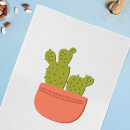Two Potted Cacti Cotton Tea Towel