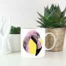 Flamingo With Circular Background Mug