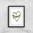 Peace Heart Art Print