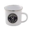 Sawdust Is Just Man Glitter Enamel Mug – White