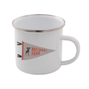 National Park Enamel Mug – White