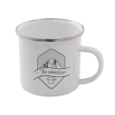 The Adventure Enamel Mug – White