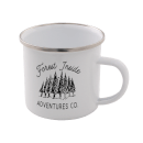 Forest Inside Adventures Co. Enamel Mug – White