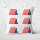 Aztec Triangle Huts Square Cushion