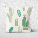 Cactus Pattern Square Cushion
