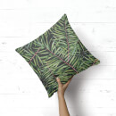 Dark Tropical Leaves Square Cushion