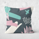 Dark Botanical Square Cushion
