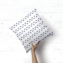 Watercolour Dashes Square Cushion