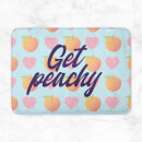 Get Peachy Patterned Background Bath Mat