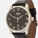 BOSS Hugo Boss Men's Master Leather Strap Watch - Rouge/Black