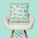 Monopoly Ship Letterpress Square Cushion