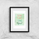 Work Travel Save Repeat Background Art Print