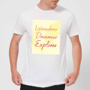 Wander Dreamer Explorer Background Men's T-Shirt - White