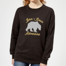 Adventure Born To Roam Women's Sweatshirt - Black