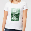 Work Travel Save Repeat Forest Photo Women's T-Shirt - White