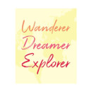 Wander Dreamer Explorer Background Women's T-Shirt - White