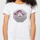 Octagon Mountain Photo Graphic Women's T-Shirt - White