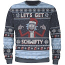 Zavvi Exclusive Rick & Morty Christmas Knitted Jumper - Navy
