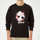 Friday the 13th Mask Splatter Sweatshirt - Black