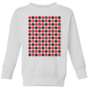 Checkers Pattern Kids' Sweatshirt - White