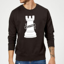 Rook Chess Piece Sweatshirt - Black