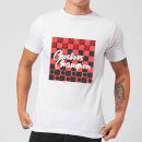 Checkers Board With Text Men's T-Shirt - White