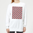Checkers Pattern Women's Sweatshirt - White