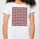 Checkers Pattern Women's T-Shirt - White