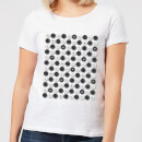 Monochrome Checkers Pattern Women's T-Shirt - White