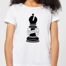 Bishop Chess Piece Faithful Women's T-Shirt - White