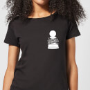 Not A Pawn In Your Game Pocket Print Women's T-Shirt - Black