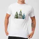 Cabin And Trees Men's T-Shirt - White